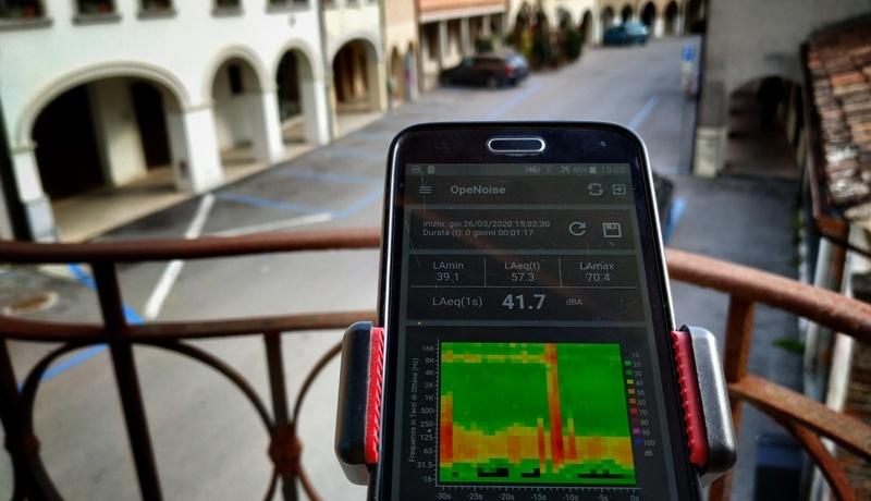 Monitoraggio acustico smartphone